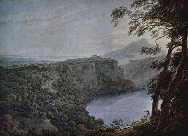 Il Lago di Nemi e Genzano, dipinto  John Robert Cozens.