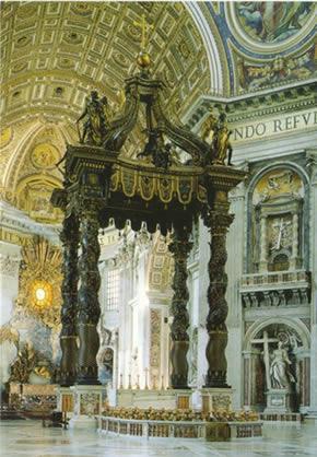 Baldacchino di Bernini a San Pietro