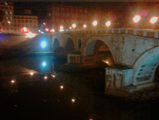 ponte Sisto di notte