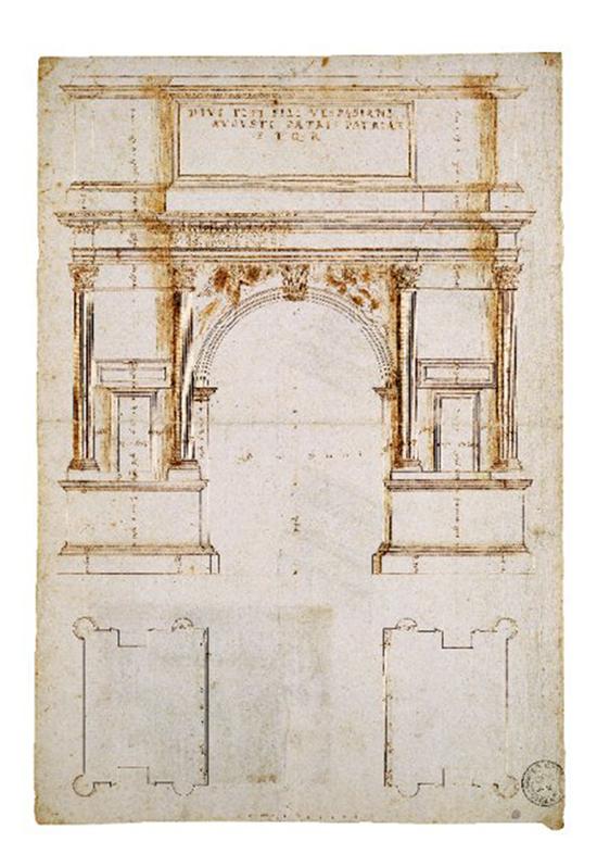 Andrea Palladio - Arco di Tito a Roma - Incisione - Palazzo Chiericati Vicenza