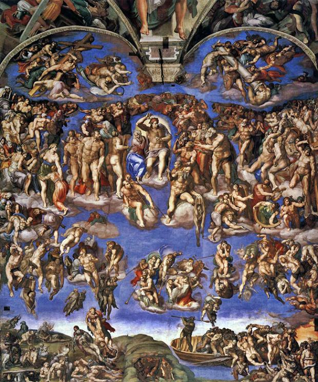 Michelangelo Buonarroti, Giudizio Universale, 1536-1541, Musei Vaticani, Cappella Sistina.