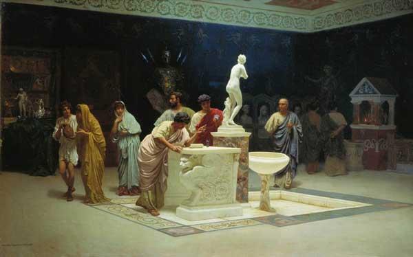 Stefan Bakałowicz, Circolo di Mecenate, 1890, Galleria Tret'jakov, Mosca.