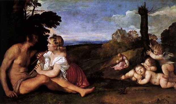 Tiziano Vecellio - Le tre eta dell'uomo