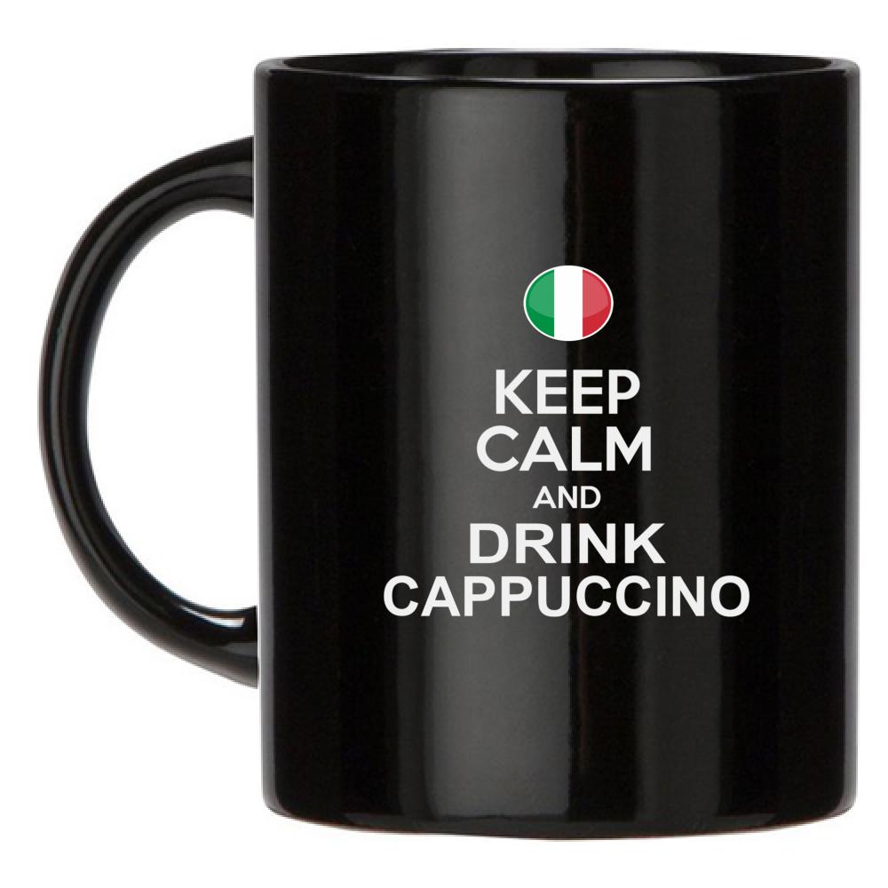 tazza nera drink cappuccino