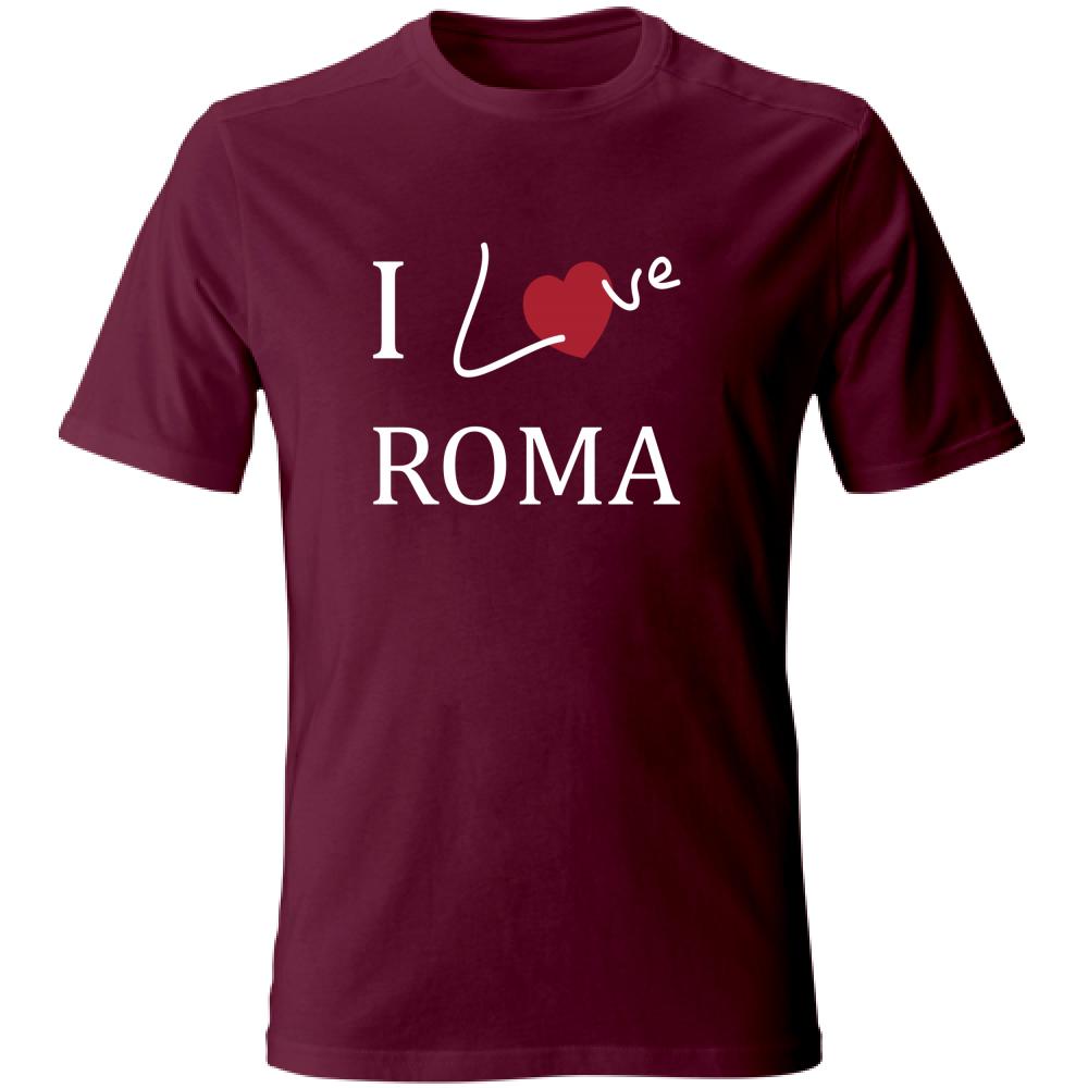 maglietta i love roma colore bordo